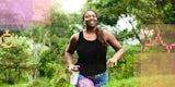 A woman on a run.