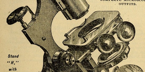 19th Century microscope.