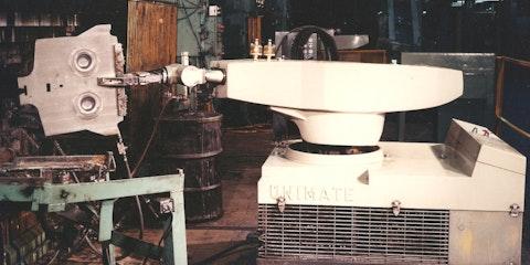 Early robotic arm - Image Credit Estate of George Devol.